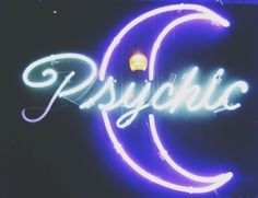 psychic, neon, and moon image