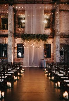 30 Indoor Wedding Ceremony Arches and Aisle Ideas Loft Wedd. - 30 Indoor Wedding Ceremony Arches and Aisle Ideas Loft Wedding Ceremony Space Decor Positives Wedding Ceremony Ideas, Indoor Wedding Ceremonies, Loft Wedding Reception, Reception Ideas, Indoor Wedding Arches, Perfect Wedding, Dream Wedding, Wedding House, Decoration Evenementielle