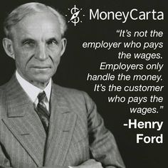"Henry Ford was on the ""Customers Come First"" bandwagon before all of us. #QuoteOfTheDay #MoneyQuote #PersonalFinance #FinancialFreedom"