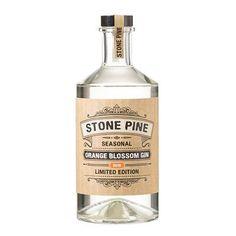 Stone Pine Orange Blossom Gin Glass Packaging, Product Packaging, Packaging Ideas, Packaging Design, Liquor Bottles, Vodka Bottle, Gin Bucket, Gins Of The World, London Gin