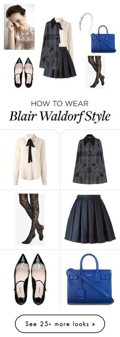 """""""Another Blair Waldorf"""" by iris0504 on Polyvore featuring Chloé, Burberry, Express, Miu Miu and Yves Saint Laurent"""