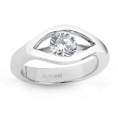 Beverly Hills Sterling Silver Cubic Zirconia Split Setting Ring