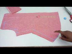 Designer kurti cutting and stitching /step by step /in easy way Kurti Sleeves Design, Sleeves Designs For Dresses, Kurti Neck Designs, Dress Neck Designs, Kurti Patterns, Baby Dress Patterns, Designer Blouse Patterns, Design Your Own Dress, Sewing Collars