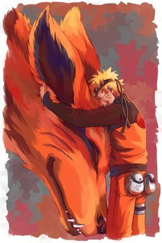 Naruto and Kurama...this is so adorable