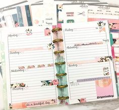Next week in the mini @the_happy_planner Also my blog post is up on the @shopvillabeautifful blog showing you how I decorate my vertical and horizontal layout planners using Cecilia Stickers Set. The link is up on my profile. Let me know what you think of it? :relaxed: Have a lovely Sunday everyone