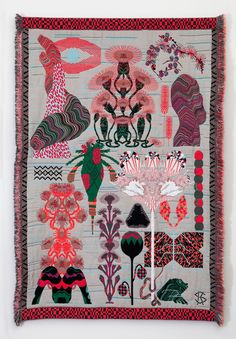 We're fascinated by Kustaa Saksi's surreal jacquard weavings.