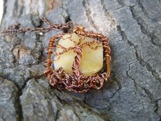 Yellow Agate Tree of Life by BazaarCharlotte on Etsy