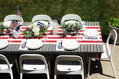 Fourth of July Table Setting, via Making it Lovely