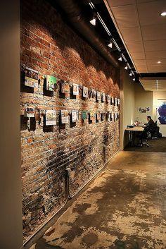 Ideas For Art Gallery Interior Architecture Brick Walls Industrial Windows, Industrial Lighting, Industrial Bookshelf, Industrial Design, Industrial Style, Industrial Artwork, Industrial Wallpaper, Industrial Restaurant, Kitchen Industrial
