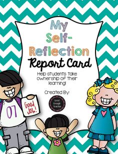 {FREEBIE} - My self-evaluation report card. Help students take ownership of their learning by having them complete their own report card at parent-teacher conferences.