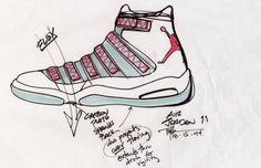 Nike Air Jordan Sketch Abstract The Art of Design Tinker Hatfield Jordans  Girls 93d5a42e9
