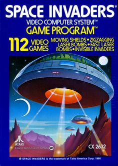 Space Invaders, Atari 2600 home video game system,1980