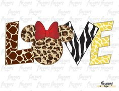 Love - Minnie Ears - Animal Kingdom - Disney - Digital Files Printables - Iron On Transfer - JPG Files Pink Camo Wallpaper, Lion King Animals, Minnie Mouse Pictures, Disney Trips, Disney Cruise, Mickey Head, Disney Ears, Disney Scrapbook, Iron On Transfer