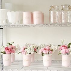 enjoy a new take on an old classic with these custom colored mason jar vases with beautiful classic mason jar