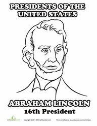 Abe Lincoln Coloring Pages