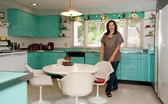 Pam from Retro Renovations shows off her kitchen. I hope this means more and more ppl will stop ripping out vintage kitchens.