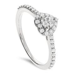 Klassisk diamantring med hjertediamant
