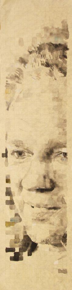 ASSANGE, 163x52cm, ink on chinese paper to know the price, please contact me via my facebook page : www.facebook.com/... #assange #wikileaks #china #ink #osswald #sebastien #sebastienosswald #fashionvictim #seduction #teenager #teen #webcam #art #contemporary #painter #painting #face #portraits #pixel #acrylic digital #france #chine #paris #neuchatel