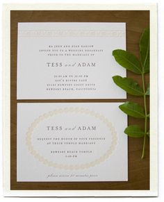 inchmark wedding invitation