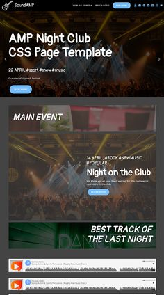 Mobirise AMP Night Club CSS Page Template | SoundAMP  Live Demo: https://mobirise.com/extensions/soundamp/nightclub.html
