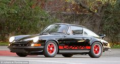 Nice motor! Adam Levine's car can be seen a mile off, and is a vintage Porsche Carrera