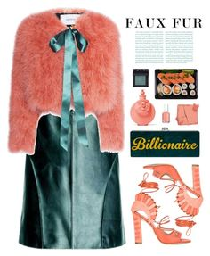 """Faux Fur: Billionaire"" by cara-mia-mon-cher ❤ liked on Polyvore featuring JULIANNE, Leka, Erdem, Paula Cademartori, Valentino, Illamasqua, Essie and NARS Cosmetics"
