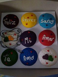 Mensaje en cupcakes 9 unidades CM-09