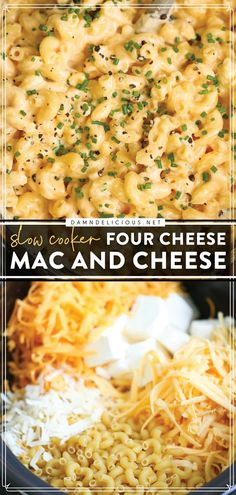 Look no further than the BEST mac and cheese ever! This slow cooker recipe lets you enjoy creamy, cheesy comfort food without the fuss. So go ahead and throw this dinner idea in the crockpot today! Easy Pasta Recipes, Crockpot Recipes Pasta, Slow Cooker Recipes, Easy Meals, Cooking Recipes, Crockpot Mac N Cheese Recipe, Crock Pot Food, Creamy Mac And Cheese, Good Food