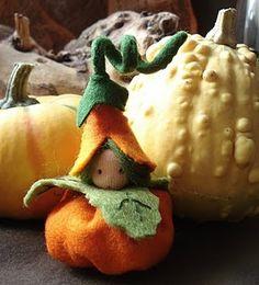 Waldorf inspired pumpkin child