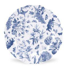Portmeirion Botanic Blue 10.75 inch Dinner Plate set of 4 - Botanic Blue -Portmeirion UK