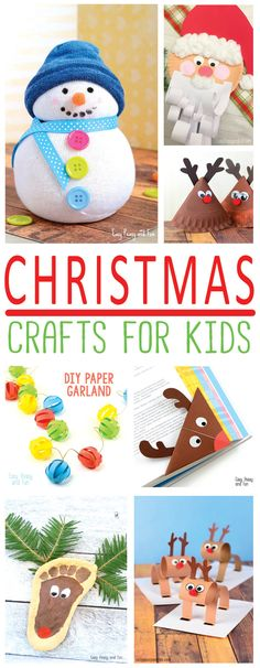 Festive Christmas Crafts for Kids – Tons of Art and Crafting Ideas Time to get crafty with your kids at home or in the classroom as these Christmas craft ideas for kids are adorable Christmas Crafts For Kids To Make, Preschool Christmas, Christmas Activities, Kids Christmas, Diy For Kids, Gifts For Kids, Kids Holidays, Winter Activities, Adult Crafts