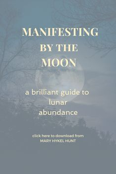 Use the power to manifest provided by Nature's Power points.  #moon #moonlore #lunarabundance