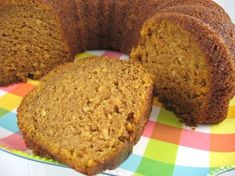 Gluten-Free Pumpkin-Applesauce Bundt Cake. I'm Going to try this with cream cheese frosting and crushed walnuts on top.
