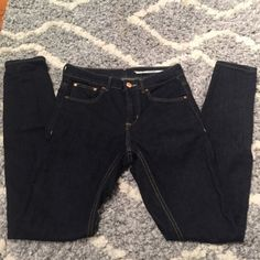 "Zara Dark Skinny Jeans Zara Dark Skinny Jeans. Medium rise. Slim Fit. Size 2. Inseam approx 28"". Excellent condition and super comfortable... just too big on me. Inside label is detached on one side. Not noticeable and not seen when worn. Amazing jeans, wish they fit! Reasonable offers considered. Zara Jeans Skinny"