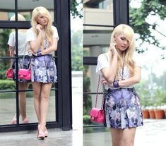 Anastasia Siantar - Zara Tshirt, Skirt, Chanel Mini Square 7, Pumps - Heatwave and Me