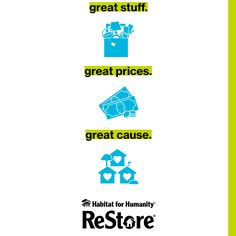 From vintage finds to new building essentials, Camden County Habitat ReStore is a treasure hunter's paradise and an investment in your community Habitat Restore, Habitat For Humanity Restore, Camden County, Habitats, Restoration, Paradise, Essentials, Community, Logos