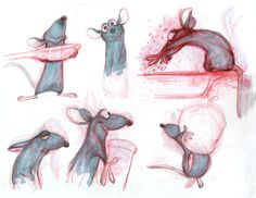 Character Designs from Ratatouille by Bolhem Bouchiba