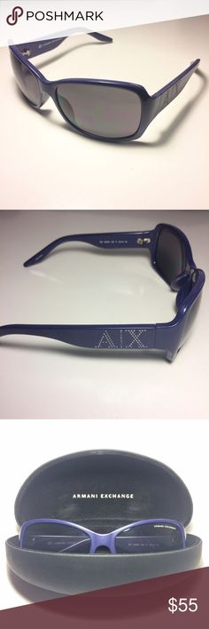 Blue Armani Sunglasses + Case Bundle Absolutely new, never been worn, in the color blue A/X Armani Exchange Accessories Sunglasses