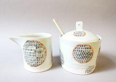 porcelain cream&sugar set by stepanka www.stepanka.etsy.com