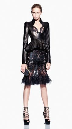 Spikes and Diamonds: Alexander McQueen SS12 takes Dark Glam to a New Level