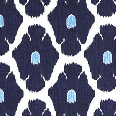 John Robshaw Textiles - Poppy Indigo - Blockprinted Linens - Fabric