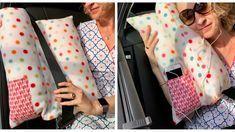 In acht Schritten zum selbstgemachten Autokissen. Karin Moslener zeigt Ihnen, wie es geht.