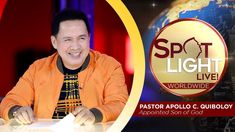 SPOTLIGHT by Pastor Apollo C  Quiboloy • April 9, 2019 Cute Dog Wallpaper, Happy Birthday To Us, Kingdom Of Heaven, T Lights, Great Leaders, Son Of God, Apollo, My Hero, Blessings