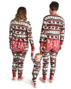 0d98397920 Black Bear and Buffalo Plaid Bear Bum Family Matching Onesies Longjohns  Union Suits By Hatley - Family Matching Christmas Pj s - Christmas Pajamas  - Long ...