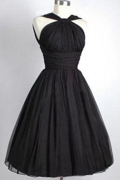 Black Prom Dress,1950s Retro Party Dress,Simple Prom Dress,Prom Dress 2017,Prom Dress Custom Made,Prom Dress Plus Size