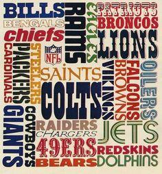 70's NFL Wordmarks