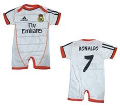 513a614e74503 Amazon.com   Real Madrid Home Baby Jumpsuit 2015 2016 C Ronaldo 4-8 months    Baby