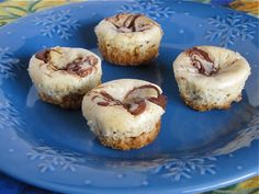 Nutella Cheesecake Bites from Miss in the Kitchen