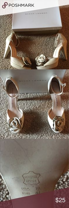 Sasha London. Peep Toe Pumps Gently worn peep toe  pump (3 1/2 inch heel and small platform), will add that special touch to your summer dress. sasha london Shoes Heels