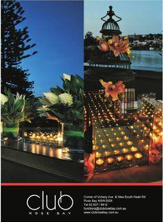 Club Rose Bay in Wedding Style Guide Mag. April 2013. www.clubrosebay.com.au